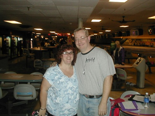 JoAnn and Shawn Coles.  Shawn is the secretary of my winter league in the 2008-09 season, the Brunswick Mixed League
