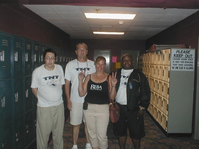 TNT, Summer 2009:  (L to R):  Me, Bill Macomber, Bonnie MacDonald, Rob Dickens