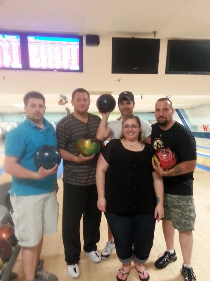 2013-14 Westgate Mixed league champions, Team 14 (Front: Denise Chamrin; Back {L-R}: Jamie Irving, Jeramie Irving, Coley Ralph, Joe Chamrin)