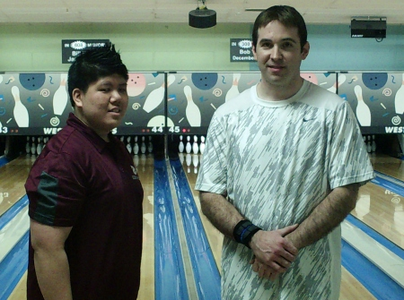 2014 Brockton USBCBA Bowler of the Year finalists (L-R): Danny Khuu (champion), Jason Sherwood (runner-up)