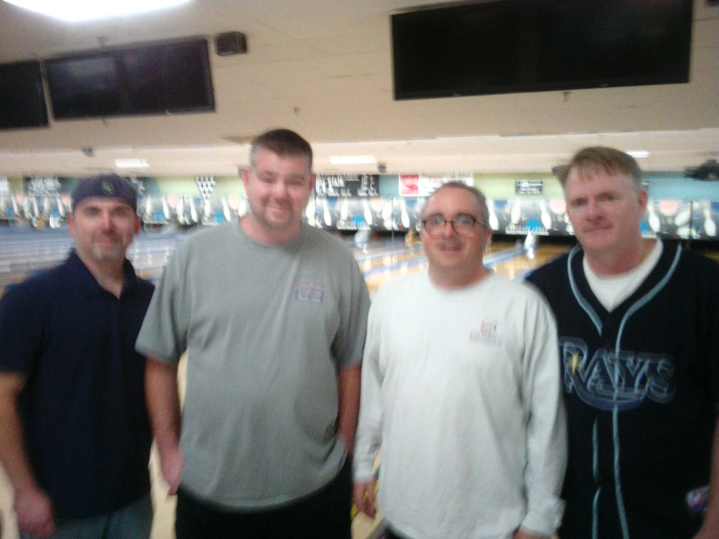 2016-17 Coke league first quarter winners, Prime Time (L-R: Dave Kullas, Ed Ashbaugh, Jeff Dawson, Shawn Childs)